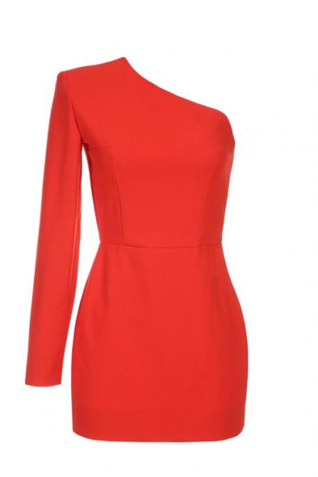 Sukienka pomarańczowa na jedno ramię Baroq&Roll