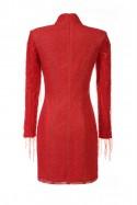 Czerwona sukienka ze stójką Baroq&Roll