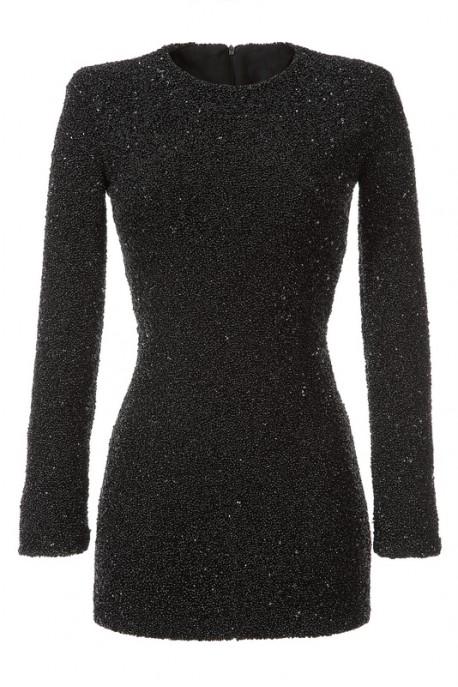 Sukienka z czarnych koralików Baroq&Roll