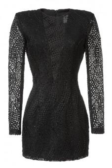 Sukienka czarna gipiura Baroq&Roll