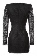 Sukienka czarna gipiura z pasem Baroq&Roll