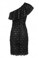 Sukienka z falbaną czarna Baroq&Roll