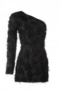 Czarna sukienka na jedno ramię Baroq&Roll