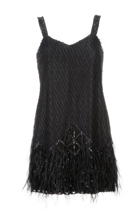 Sukienka mini czarna PIANO-FORTE