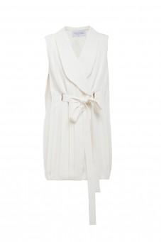 Sukienka kamizelkowa plis