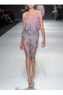 Spódnica mini z różowych koralików Wonderland