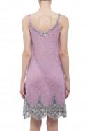 Sukienka na ramiączkach lawendowa