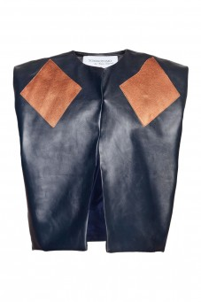 Blue-copper leather vest
