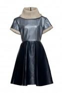 Sukienka skórzana niebieska