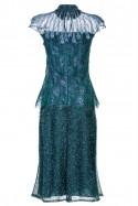 Morska sukienka z piórami LaDorothée