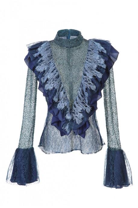 Bluzka z żabotem LaDorothée