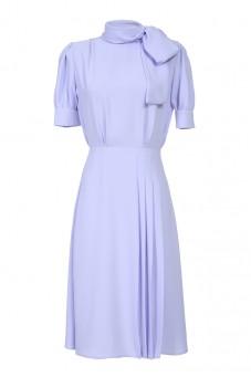 Sukienka wrzos z kokardą LaDorothée