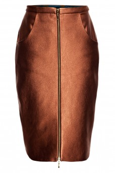 Leather copper skirt THE ONE