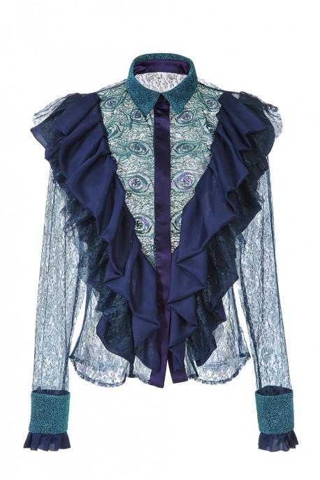 Koszula z żabotem LaDorothée
