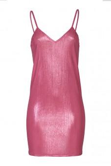 Różowa sukienka na ramiączkach LaDorothée