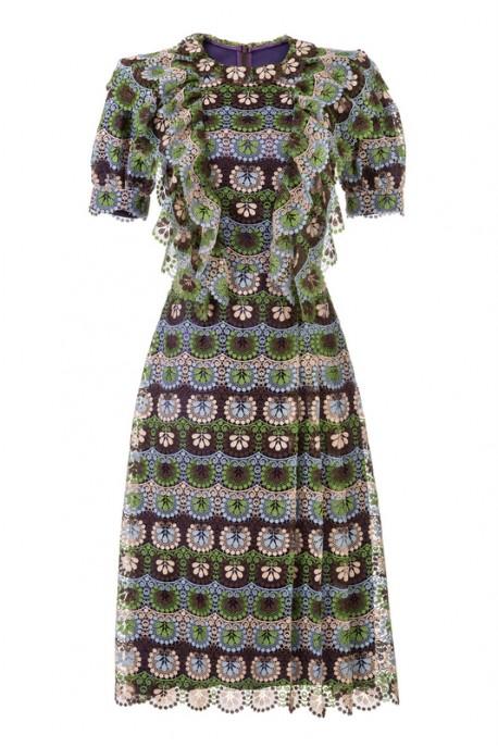 Sukienka z bufiastymi rękawami i gipiury LaDorothée