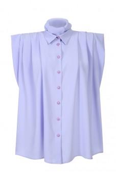 Plisowana koszula wrzos bez rękawów LaDorothée