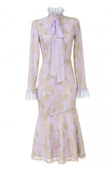 Złoto-różowa sukienka z kokarda LaDorothée