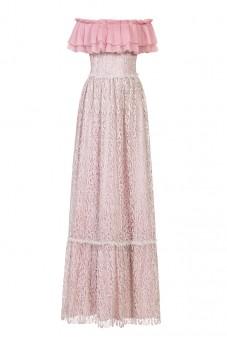 Sukienka lilaróż z falbaną LaDorothée