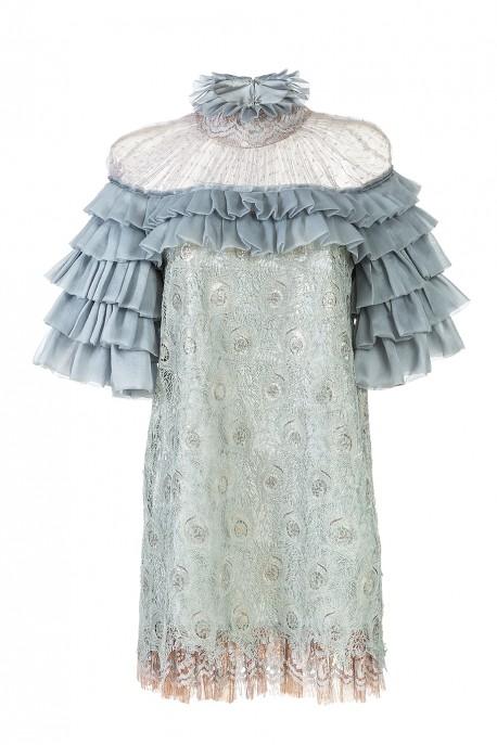 Mini sukienka z falbanami LaDorothée