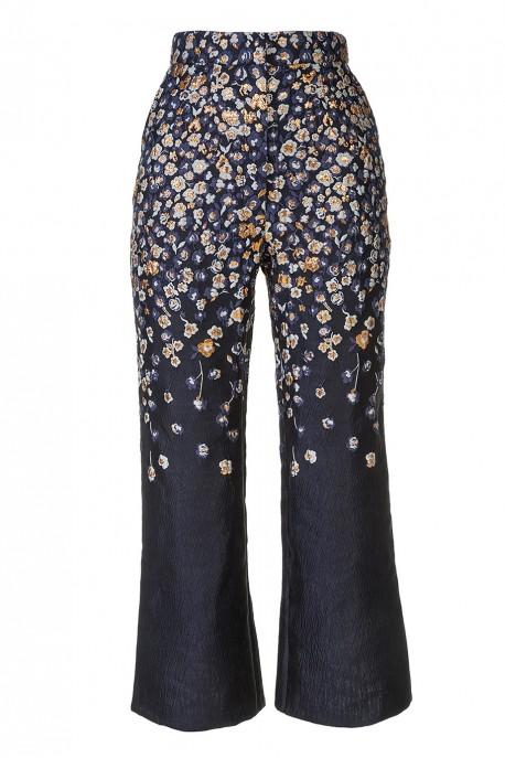 Rozszerzane spodnie z żakardu LaDorothée
