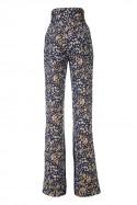 Żakardowe spodnie w kwiaty LaDorothée