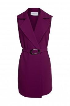 Eggplant waistcoat dress