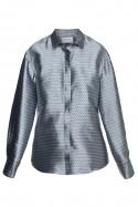 Koszula srebrno-niebieska