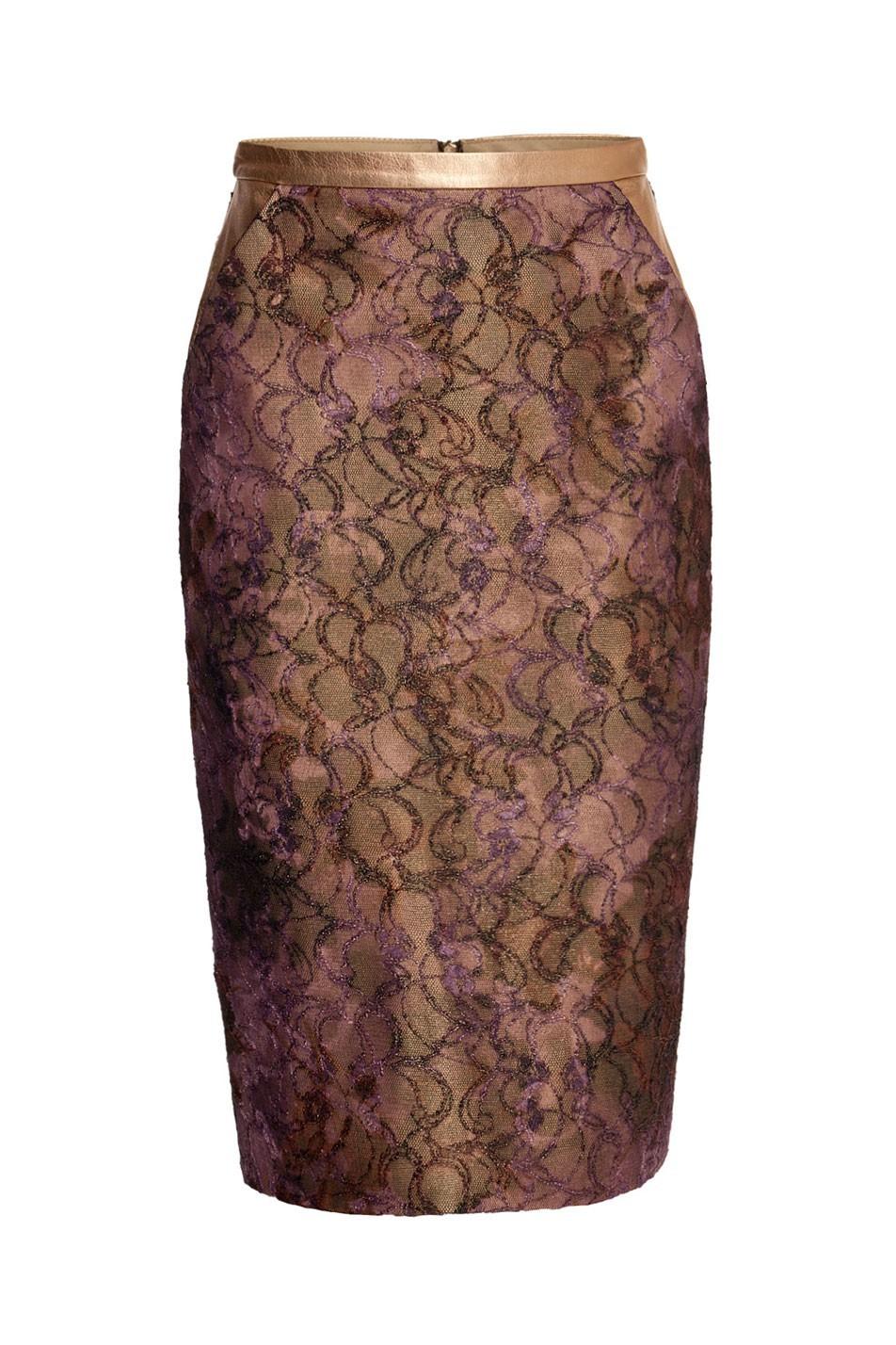 Spódnica ołówkowa nitki czarna Baroq&Roll TOMAOTOMO