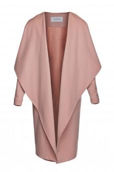 Różowy kaszmirowy płaszcz